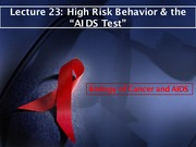 Lecture 23 HIVTests
