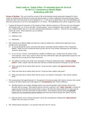 Indian Tribes  Study Guide