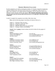 chmn 201 introduction to church ministries exam 1 study guide Chmn 201 exam 1 (liberty university) chmn 201 exam 3 (liberty university) crj 443 week 3 assignment case study – the church committee and cointelpro.