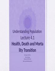 Lecture 4.1- Mortality Transition