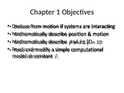 Ch.1A Matters and Interactions Notes