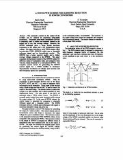 [18]-2 A novel PWM scheme for harmonic reduction in power converters