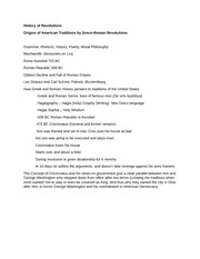 History of Revolutions- Lecture notes on Origins of American Gov Traditions