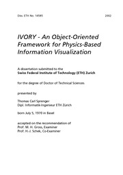 IVORY framework for Visualization