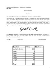 Stat 104 Final Exam Solutions - Fall 2010