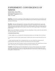 Conergence of Waves Lab.rtf