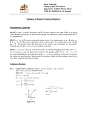Solutions for PP3 PHYS 191 Fall 2014-Ch03