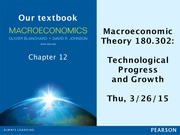 AS.180.302 Section 2 Technological progress notes