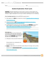RockCycleSE - Name Date Student Exploration Rock Cycle ...