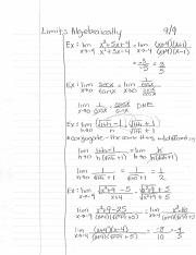 Limits - algebraically.pdf