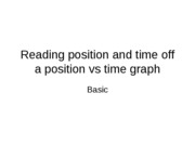 position vs time graph- Reading position