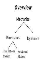 1D kinematics for moodle