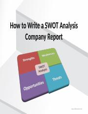 how to write a swot analysis-chapter2.pps