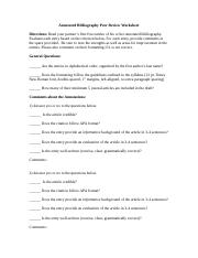 Annotated Bibliography Peer Review Worksheet.doc