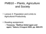 3- Population and Limits to Agricultural Productivity