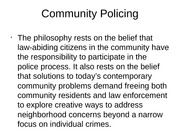 Community Policing Unit 5 project Saura Jenson