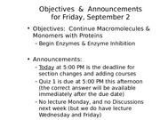 MCB 150 Enzymes & Enzyme Inhibition Lecture