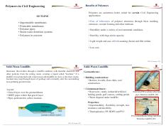 Lecture 23 -Polymers in Civil Engineering-Handouts
