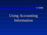 Use of accounting information
