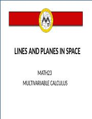 L4  Lines and Planes in Space.ppt