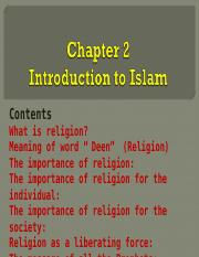 Introduction to Religion of Islam