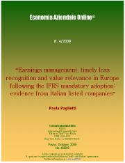 Accounting quality in Italia