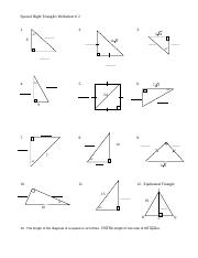 Special Right Triangles Worksheet.doc   Special Right ...