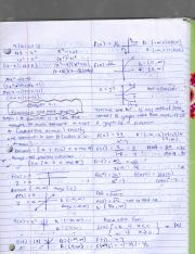 Math 130(PreCalculus)-Class notes on rules of equations of