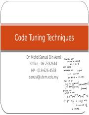 09 W7Code Tuning Techniques