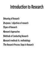 ECO 800- CHAPTER ONE - Introduction to Research