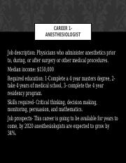 Career 1- Anesthesiologist.ppt