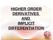 Lesson 8_Higher Derivatives & Implicit Differentiation