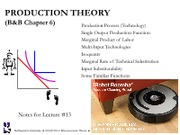 Lecture 13 Production Theory
