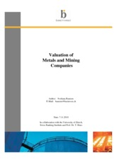 Valuation of Metals and Mining Securities - Basinvest (2010)