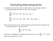 Lesson 23a - Alternating Series Test Estimator
