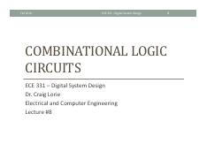 Lecture 8 - Combinational Logic Circuits