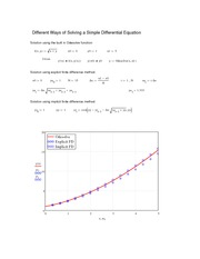 Mathcad - Different Ways of Solving a Differential Equation