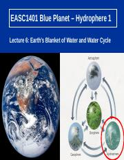 Lecture 6 Earths Blanket of water 1_Feb 2017.ppt