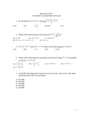 MTH2003 Test E, with Answers