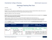 an example of a discharge teaching