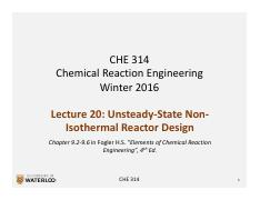 CHE 314_L20_Unsteady-State Non-Isothermal Design