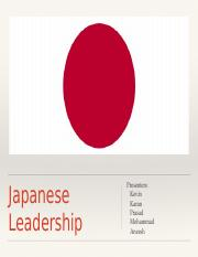 Japanese Leadership_Case Presentation