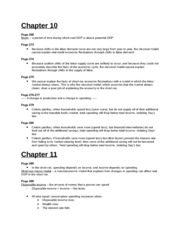 Study Guide - Chapter 10 and 11
