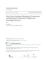 Data-Driven Simulation Modeling of Construction and Infrastructur