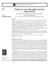 Value and Srvice Experience.pdf