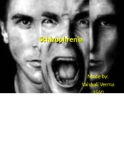 schizophrenia a clinical picture