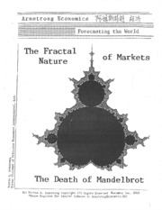 The Fractal Nature of Markets 11-1-10