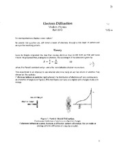 Modern Physics Electron Diffraction Handout