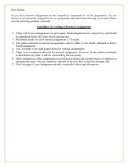 Guidelines for writing of Internal Assignments-1