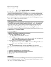 ECE 110 – Project Proposal